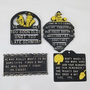 4 Small Metal Signs